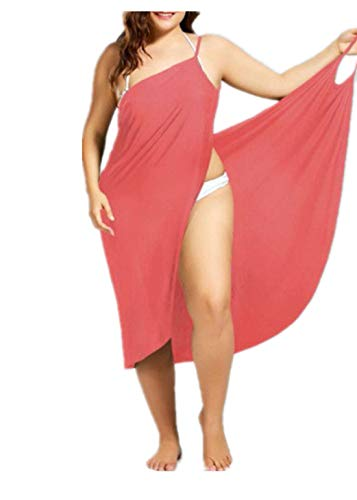 Fliegend Femme Robe de Plage Grande Taille Bikini Cover Up Peignoir Bretelles Maillots de Bain Robe Portefeuille per Voyage Spa Natation S