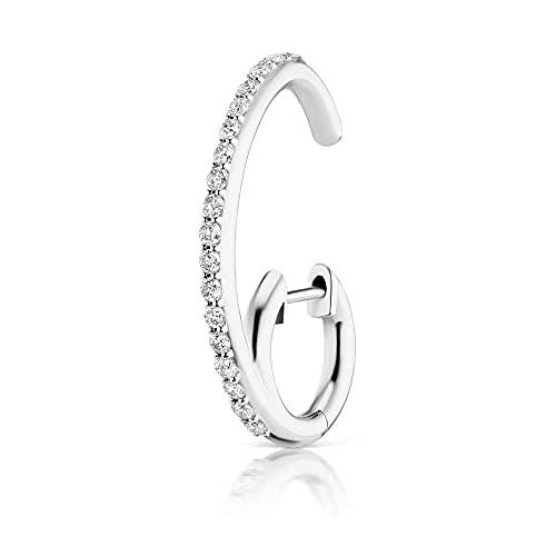 Pendientes triangulares individuales de plata de ley 925 con llantas de rueda abierta, pendientes largos de circonita de cristal, joyería de plata para mujer, 1 Uds.