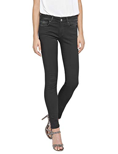 Replay Damen LUZ Skinny Jeans, Schwarz (Black 98), W28/L28 (Herstellergröße: 28)