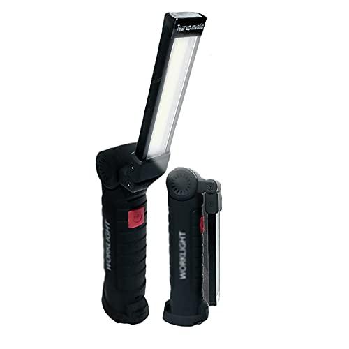 BERJMA Linterna de la luz Recargable de la luz de Trabajo LED con Gancho y Soporte magnético Inspección de la luz de la luz de la luz de la iluminación...