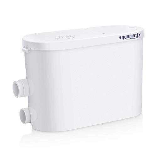Aquamatix Silencio 2 - Hebeanlage Abwasserpumpe Haushaltspumpe mit 2 seitlichen Einlässen 400W Leise