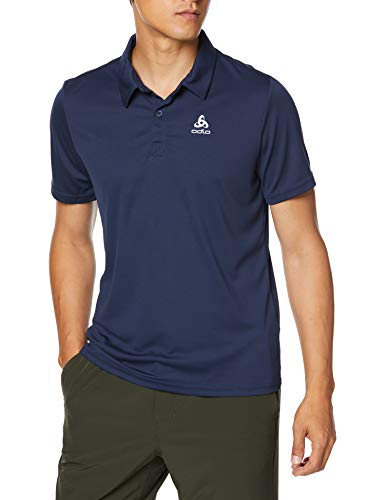 Odlo Polo Shirt s/s CARDADA Homme, Diving Navy, FR : M (Taille Fabricant : M)