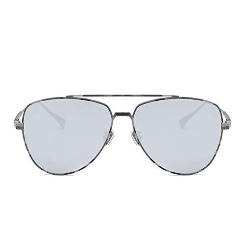 WOXING Gafas de sol HD para mujer, de moda, clásicas, con protección UV, antirreflejos, metal, ciclismo, conducción, senderismo, pesca, viajes, golf, para hombres, C 14,9 x 5,5 cm