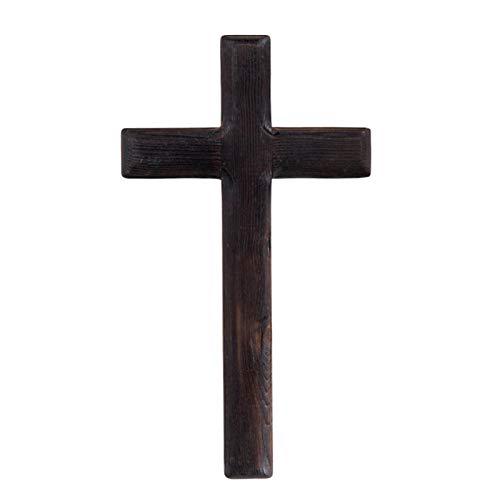 DSFSAEG Houten Kruis, Wandmontage Katholieke Kruisbeeld Jezus Christus Houten Kruisen Party Meditatie