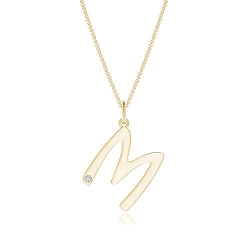 Gypsy Set Diamond Capital M - Colgante con inicial (color H, claridad: SI2)