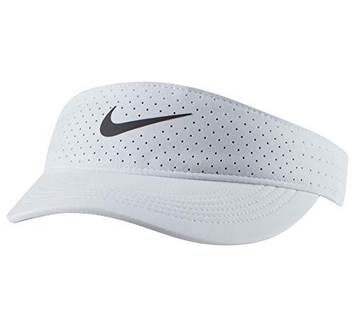 Nike Damen Advantage Visor Kappe, White/Black, One Size
