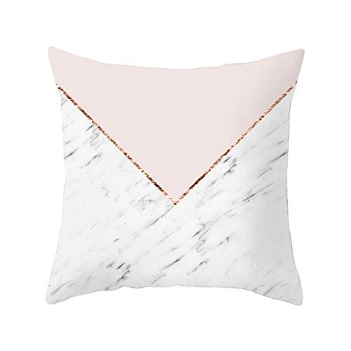 Ronamick Kissenbezug Kissenhülle 45x45 cm Stylish Simplicity Polyester Glückliche Bunte Gedruckt Muster Atmungsaktiv Cushion Cover Sofa Throw Pillow Case Home Decor (c)