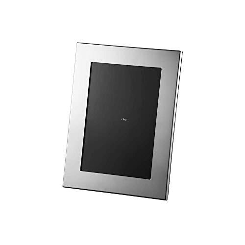 Porta Retrato Carrara Velvet Riva Inox 15x21 Inox vidro e latão