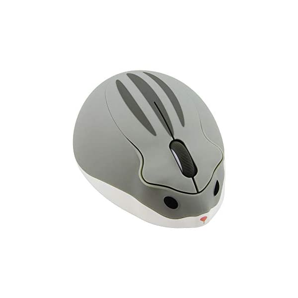 24ghz Wireless Mouse Cute Hamster Shape Less Noice Portable Mobile Optical 1200dpi Usb Mice Cordless Mouse For Pc Laptop Computer Notebook Macbook Kids Girl Gift Gray