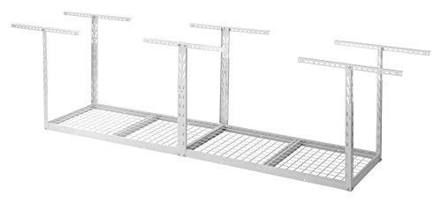 Overhead GearLoft Garage Storage Rack 2' X 8' in Hammered White