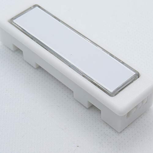 Klingel-/Namensschildtaster mit Reibungskontakt und weißem Kunststoffgehäuse für Renz