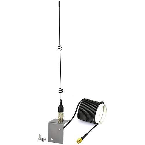 YQZX Antena Externa 4G Antena Externa Adaptador SMA 5dbi omnidireccional RG174 Cable 3M, Adecuado para 2G 3G 4G Router LTE gsm WLAN Bluetooth HSDPA WiFi Red inalámbrica,Black