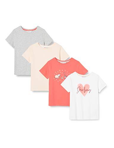 Amazon-Marke: RED WAGON Mädchen T-Shirt Slogan Design kann variieren, Mehrfarbig (Tier), 134, Label:9 Years