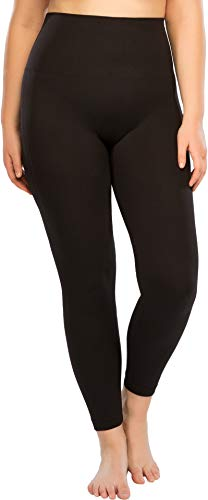 SPANX Plus Size Look at Me Now Seamless Leggings Very Black 2X