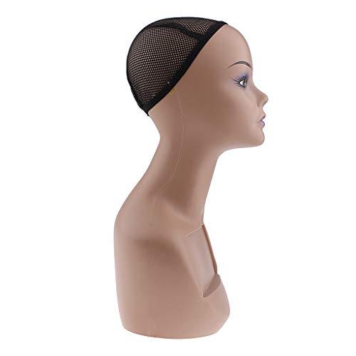 B Baosity Tête de Mannequin Femme Modèle de tête Affichage pour Présenter Chapeaux, Perruques, Bijoux,Lunettes, Foulards, Bijoux de magasin - Lèvre violette