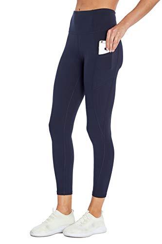 Jessica Simpson Sportswear Tummy Control Pocket Ankle Legging, Midnight Blue, Small