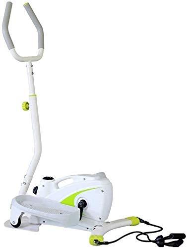 Wghz Máquina elíptica para Uso doméstico, Entrenador elíptico portátil para Ejercicio aeróbico, Equipo de Cardio Fitness Resistencia magnética Ajustable (Color: Blanco, tamaño: 127x65x48cm)