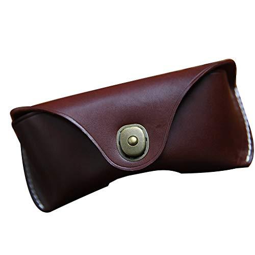 Njuyd - Funda de piel para gafas de sol, unisex, diseño vintage, Brown (Marrón) - njuyd