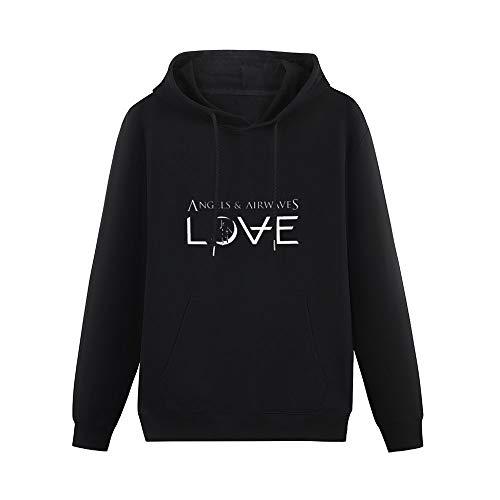 Men's Pullover Angels & Airwaves Logo Single-Side Print Sweater Black 3XL