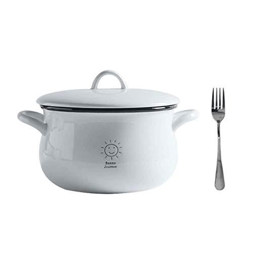SCDMY Gran tazón de cerámica con Tapa y for Sopa/arroz/Ensalada/instantáneo/Fideos/Verduras Frutas