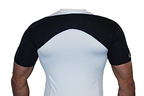 Neopren-Schulterbandage für beide Schultern–Für Verletzungen, Arthritis, Schmerzlinderung, Fitnessstudio und Sport.–Schwarz–A1, Schwarz , S