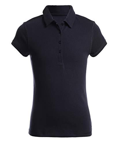 Nautica Mädchen School Uniform Sensory-Friendly Short Sleeve Polo Poloshirt, Navy, Klein