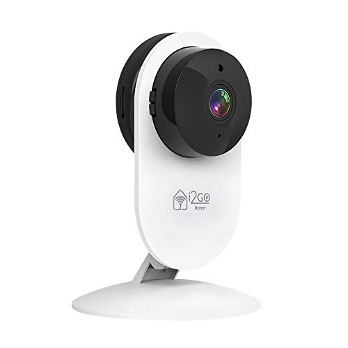 Câmera Inteligente Wi-Fi 180° FULL HD 1080p I2go (I2GO0) Home, I2GOTH738, Branco/Preto