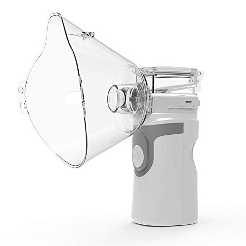 SYDUNZI Nebulizador ultrasónico portátil Mini Inhalador de Mano Respirador Humidificador Kit Cuidado de la salud Niños Inhalador doméstico Máquina Atomizador-gris