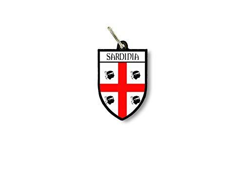 Sleutelhanger Sleutelhanger Ring Vlag Nationale Souvenir Shield Sardinië