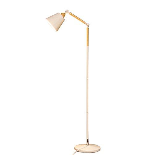 GWXSST Sala de Estar Lámpara de pie, Pesca Minimalista Protección de los Ojos LED de la lámpara Moderna Creativa nórdica de la Sala Dormitorio de la lámpara Estudio (Color : White)