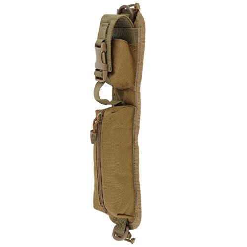 koolsoo Molle Compact Pouch Correa de Hombro Impermeable Bolsas Estuche para Gafas de Teléfono - marrón