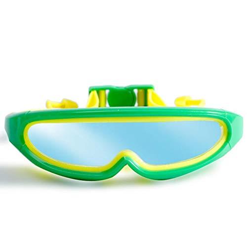 Flauu zwembril, anti-nebbia, goede elasticiteit, silicone, zacht en niet giftig, geschikt voor gevoelige haar, geschikt voor kinderen van 5 tot 18 jaar.