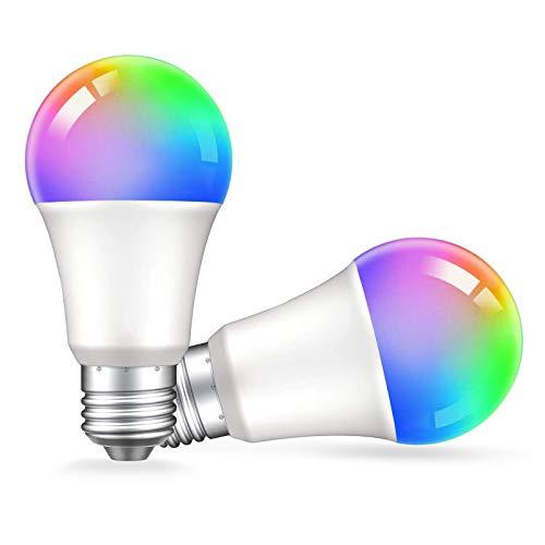 Zigbee Smart Light Bulbs, E26 Color Changing Light Bulb 9W,800 Lumens,Smart Bulb Compatible with Alexa Amazon Echo Show and Samsung Smartthings Hub,2 Pack