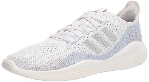 adidas Women's Fluidflow 2.0 Running Shoe, White/Silver Metallic/Halo Blue, 5.5