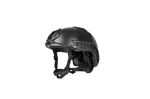 Lancer Tactical Airsoft Use MH Type Tactical Airsoft Use Helmet - Black - M/L