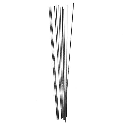 YPLonon 24 hojas de sierra 1 # 2 # hojas de sierra de acero al carbono dientes fijados hoja de sierra para madera y plástico de espuma suave Metales para hacer bricolaje [12 piezas de cada tamaño]