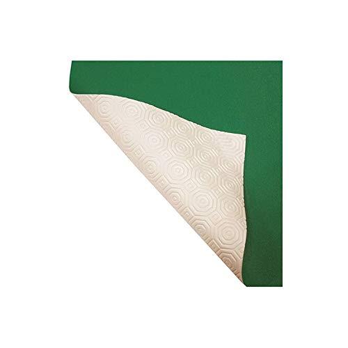 R.P. Mollettone Verde Bianco - Copritavolo Proteggi Tavolo gommato Alt. cm 140 - Cm 140x300