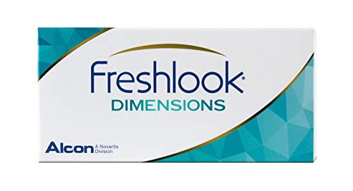 Alcon FreshLook Dimensions Caribbean Aqua Monatslinsen weich, 2 Stück / BC 8.6 mm / DIA 14.5 / 0 Dioptrien