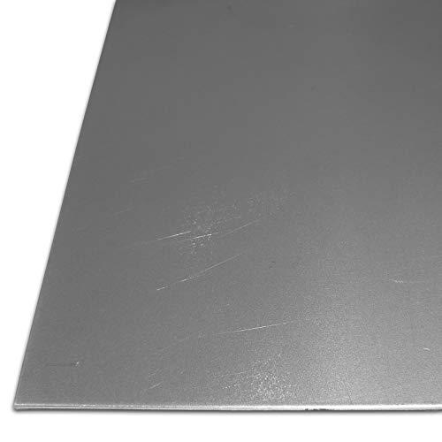 BundT Metall Stahl-Blech blank geölt St 1203   3,0mm stark   Feinblech DC01 im Zuschnitt Größe 10 x 70 cm (100 x 700 mm)