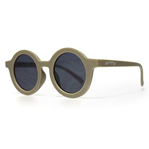 petitmax Gafas De Sol Niña Niño Infantil Redondas Unisex A Partir De 4 Años Hasta los 8 Años con Protección Filtro Solar UV400 UVB