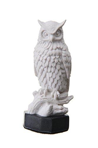 "danila-souvenirs Decorativo Escultura de mármol Estatua Figura Decorativa Color Blanco búho 4.1"""