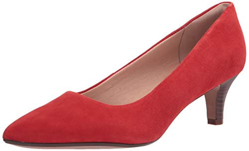 Clarks Linvale Jerica, Bomba Mujer, Rojo (Red Suede), 43 EU
