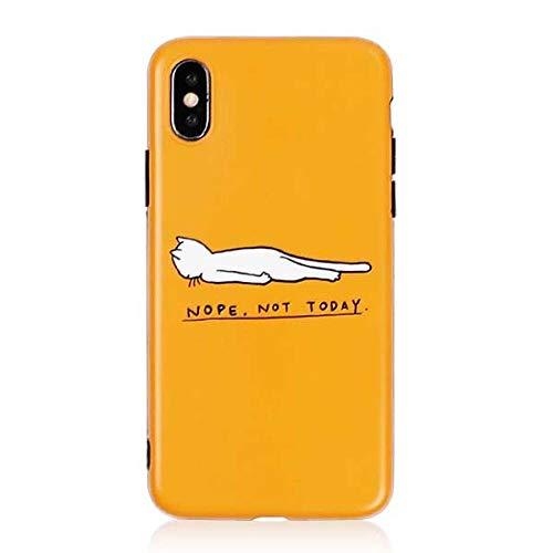 KNGYUTF beschermhoes voor iPhone XS XR XS Max X 6 6S 7 8 Plus IMD zachte letters beschermhoes voor mobiele telefoon achterkant Coque Per iPhone 7 Plus zwart.