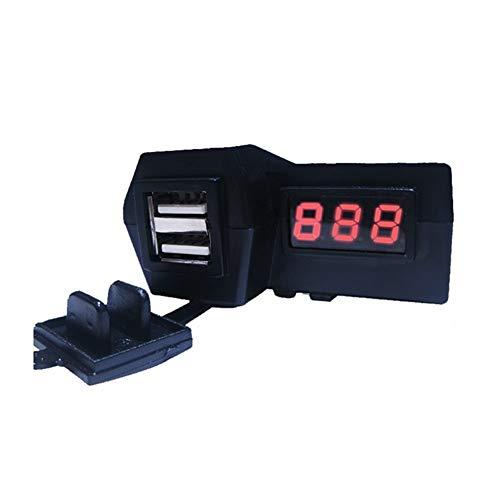 RJJX 12V de la Motocicleta Vespa Enchufe Cargador USB Pantalla LED Digital del voltímetro Interruptor de alimentación Encendedor del Coche y ciclomotor Dual USB Socket (Color Name : Red)