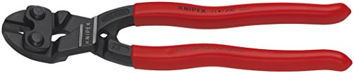 KNIPEX Tools - CoBolt Compact Bolt Cutters With Notched Blade, 20 Degree Angled (7141200SBA)