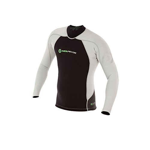 Neil Pryde 2018 Elite Firewire 1mm Long Sleeve Top Black/Silver SAB607 Size - - Medium