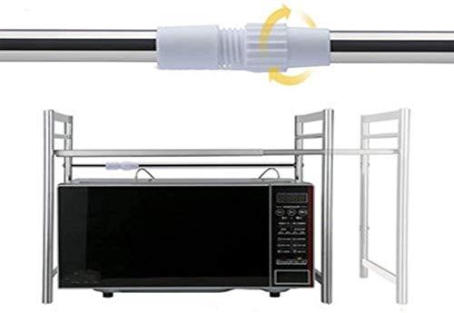 JJDSN Microwave Shelf 304 Stainless Steel Kitchen Rack Microwave Oven Storage Cabinet for Kitchen Bathroom