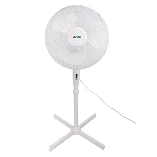 I-CHOOOSE LIMITED Staande ventilator, wit, 16 inch, oscillatie op 90 graden of statisch