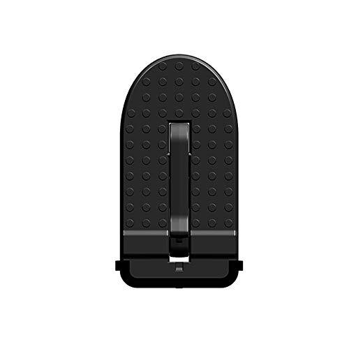 LFOTPP T-Roc SUV - Pedal plegable para puerta de coche, aleación de aluminio, con gancho, pedal plegable, martillo de seguridad, color negro