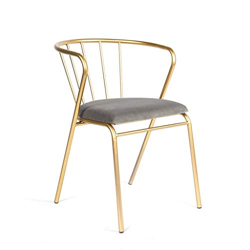 Lxn simplicité Moderne Chaise Design à Manger d'or en Fer forgé, Les Jambes métalliques de Coussin en Tissu, Salle à Manger, Cuisine, Chambre, Salon Côté chaises de Type économique - 1pcs
